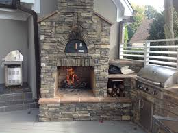Outdoor Kitchen Pizza Oven Design Custom Pizza Oven Integrated Into An Outdoor Fireplace And