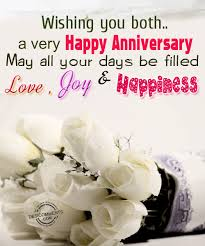 wedding wishes for niece wishing you both a happy anniversary may all your days be