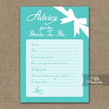 advice for the cards printable bridal shower advice cards blue