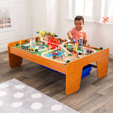 wooden train set table 100 piece wooden train set small table toys kid railway track
