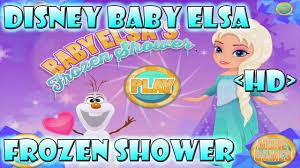 disney princess frozen elsa baby shower games for kids youtube