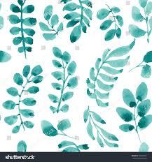 seamless floral handdrawn pattern organic ornament stock vector