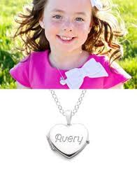 children s lockets personalized heart locket necklace initial locket by saysthestone
