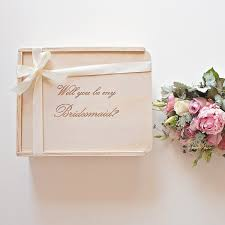 Will You Be My Maid Of Honor Gift Will You Be My Bridesmaid Bridesmaid Gift Box The Bridal Box Co