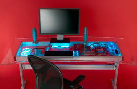 Computer Desk Design Futuristic Computer Desk Liquid Cooled Combined Computer And Desk