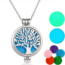 locket necklace aliexpress images Aromatherapy necklace silver plated with tree of life pattern jpg