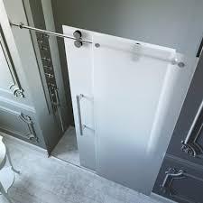 Frosted Frameless Shower Doors by Vigo Vg6041 3 8 In Frosted Glass 48 In Frameless Shower Door The