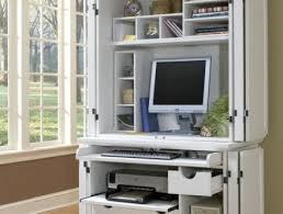 meuble bureau fermé avec tablette rabattable armoire ordinateur ferme meuble ferme pour ordinateur bureau ferme