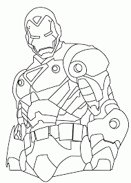 avengers superhero coloring pages free printable iron man u0027s