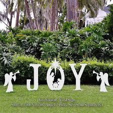nativity yard sign yard