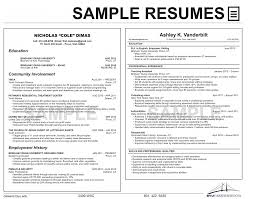 Samples Of Resumes For College Students by Resumes University Career Services