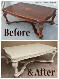 Before  After Painted Living Room Furniture Glaze Coffee And - Living room coffee table sets