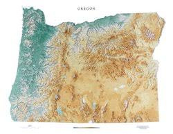 oregon topographic wall map by maps laminated