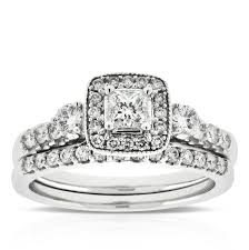 princess cut wedding set princess cut diamond wedding set 14k ben bridge jeweler