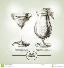 vintage cocktail vector cocktail sketch stock vector image of decorative drink 59587033