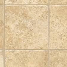 shop domco 8 ft w x cut to length casa grande beige tile low gloss