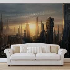 star wars city coruscant wall paper mural buy at abposters com star wars city coruscant wallpaper mural