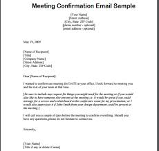 meeting confirmation email writing professional letters