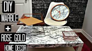 Marble Home Decor Diy Rose Gold U0026 Marble Room Decor Pinterest And Youtube