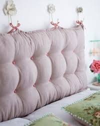 How To Make Your Own Fabric Headboard by Best 25 Pillow Headboard Ideas Only On Pinterest Headboards For
