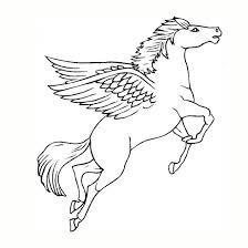 Coloriage Licorne en volant dessin gratuit à imprimer