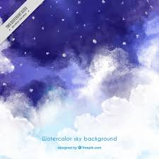 night sky background painted with watercolors free vector vactor