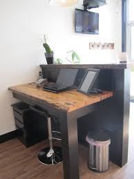 Diy Reception Desk Rustic Industrial Reception Desk With Two Tiers Frazer Hear