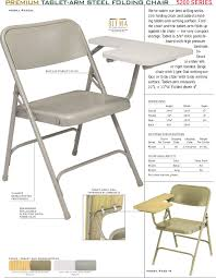 Fold Up Desk Chair Interesting Folding Chair Desk With Folding Chair With Tablet Arm