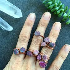 real crystal rings images 208 best raw stone rings images gemstone rings jpg
