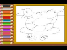 duck coloring pages kids duck coloring pages