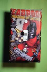 Superhero Home Decor Marvel Comics Deadpool Super Hero Waterproof Room Decor Curtain 66