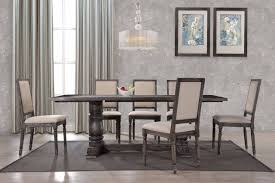 Bestmaster by Best Master Lisa Smoked Gray Dining Table Set Oc Furniture