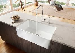 kitchen sink and faucets decorating rectangle white apron sink plus faucet plus white