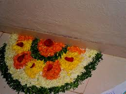 decor rangoli decoration with flowers decorations ideas
