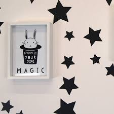 monochrome star wall stickers parkins interiors monochrome star wall stickers
