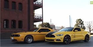 dodge challenger vs mustang gt enjoy in below with two cars 2015 ford