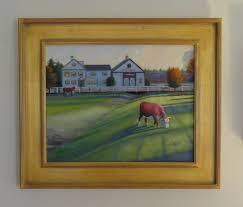 custom oil painting of farm house by jt harding studios