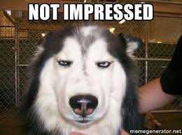 Meme Not Impressed - list of synonyms and antonyms of the word unimpressed meme
