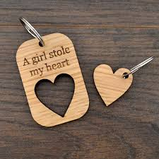 a stole my valentines day keyring present for