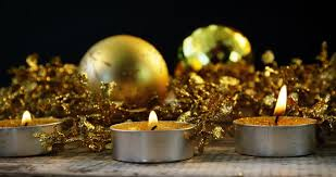 Christmas Decorations Video Lights by Christmas Decorations With Tea Lights Stock Footage Video 4264160