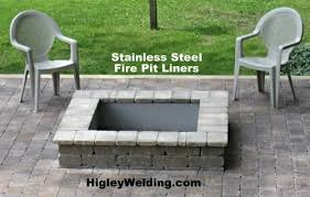 Rectangle Fire Pit - contemporary ideas rectangle fire pit insert endearing replacement
