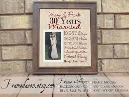 30th anniversary gifts for parents wedding anniversary 30th wedding anniversary gift parent 30th