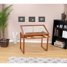 Glass Drafting Table With Light Studio Designs Ponderosa Glass Top Solid Wood Frame Drafting Table