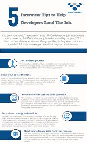 resume and interview tips 5 interview tips to help developers land the job infographic leave a reply cancel reply