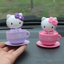 kitty car accessories funny cartoon car styling ornaments