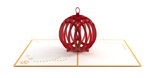 holiday ornament 3d christmas pop up card lovepop