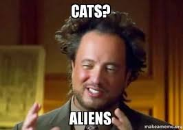 Cat Alien Meme - cats aliens ancient aliens crazy history channel guy make a