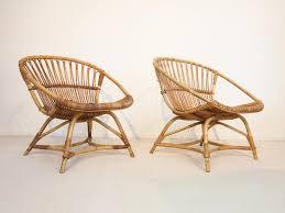 Wicker Lounge Chair Mid Century Dutch Rattan Lounge Chairs By Dirk Van Sliedregt For