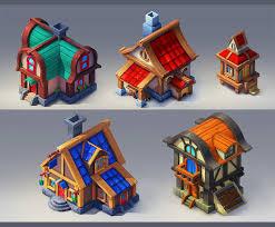House Design Games Mobile Houses By Lepyoshka On Deviantart 2d 3d Game Graphics