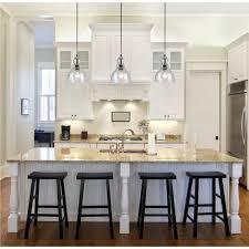 Double Kitchen Islands Kitchen Amazing Kitchen Double Glass Pendant Lights Over White